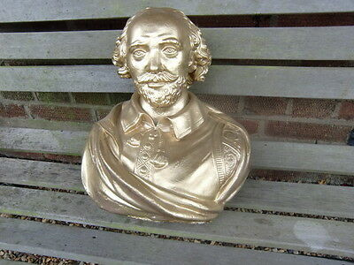 Gold Painted William Shakespeare Bust
