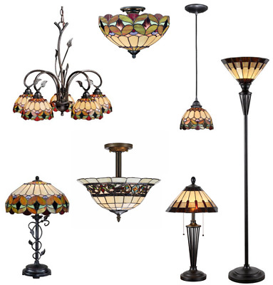 Tiffany Style Stained Glass Billiard Pendants, Ceiling Light, Chandeliers, Lamps