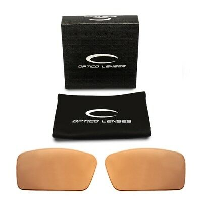 Optico Replacement Polarized Lenses for Oakley Gascan S Sunglasses Sport Brown