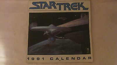 Star Trek 1991 Calendar With Enterprise Cover & Scenes From All The Movies   t59