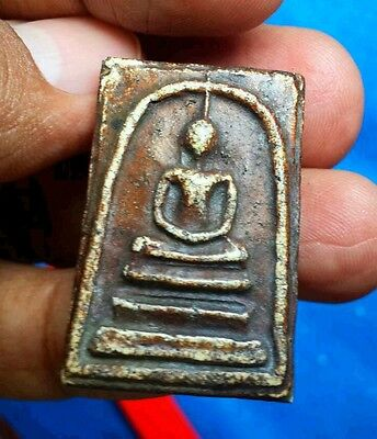 Miracle Magic White Clay Lp.Somdej Toh WatRakang Holy Sacred Thai Buddha Amulet