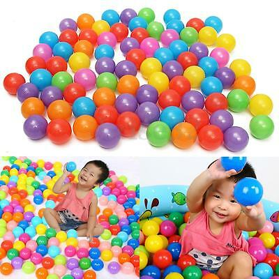 200pcs Colorful Fun Ball Soft Plastic Ocean Ball Baby Kid Toy Swim Pit Toy 5.5Cm