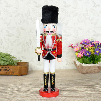 Hand Painted Wooden Nutcracker with Sword Home Decor Toys