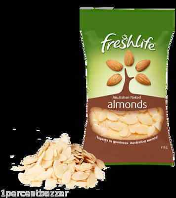 6 x 700g Fresh Life flaked Almonds - baking dessert Made in Australia