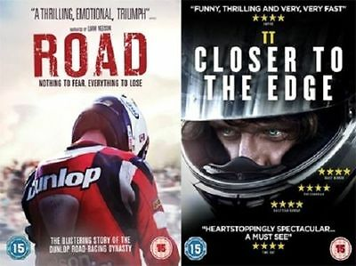 ROAD Joey Dunlop,Liam Neeson & TT Closer to the Edge (2 DVD BUNDLE) Road Racing