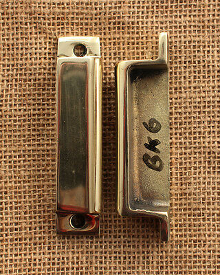 SOLID BRASS RIM LOCK DOOR KEEP 93mm ~ BRITISH MADE VICTORIAN RIMLOCK KEEPS ~ BK6