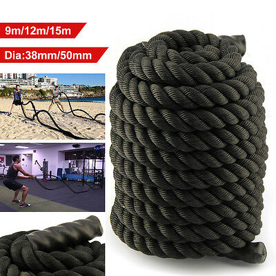Battle Rope 38/50mm Training Battling Sport Exercise Fitness Power Gym BOOTCAMP