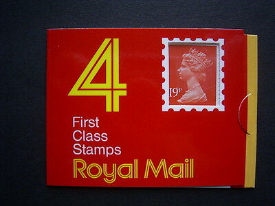 1988 19p definitive booklet gd1 complete unused