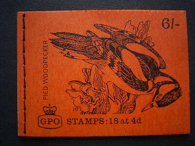 1968 pied woodpecker  booklet qp42 complete unused
