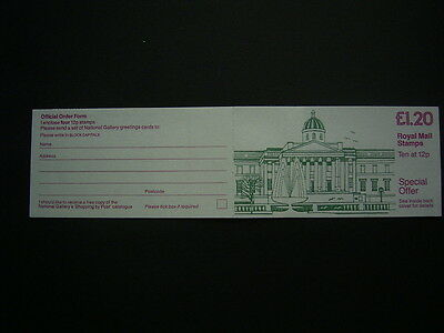 1986 national gallery   booklet fj5a complete unused
