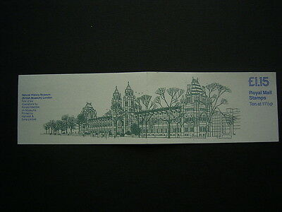 1981natural history museum   booklet fi3a complete unused