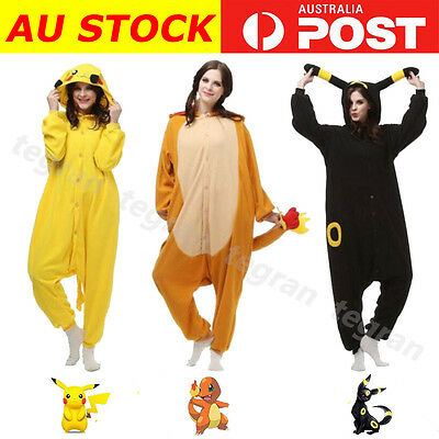 NEW Pokemon Adult Onesies Kigurumi Pikachu Charmander Umbreon Costumes Pajamas