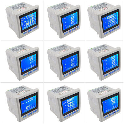 3P Three Phase Digital Multifunction Meter Energy Accumulation RS-485 V A Hz P Q