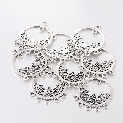 10pcs Tibetan Chandelier Connectors Links Antique Silver For Earring Making DIY