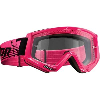 Thor MX NEW Conquer FLO Pink Clear Lens Womens Dirt Bike Motocross Goggles
