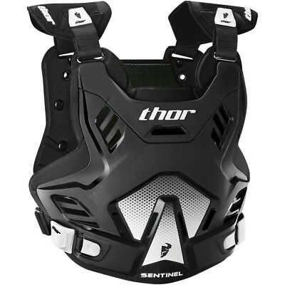 Thor MX NEW Sentinel GP Roost Chest Protector Black White Body Armour - M/L