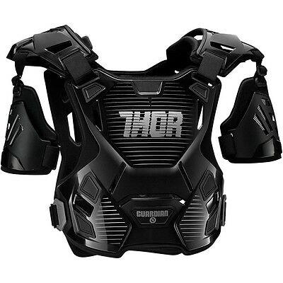 Thor MX NEW Kids Guardian Black Silver Motocross Youth Body Armour - 2XS/XS