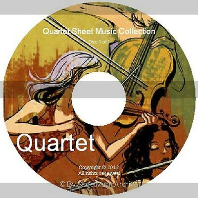Massive Professional Quartet Sheet Music Collection Archive Library on DVD