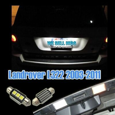 Range Rover Vogue L322 Xenon Ice White Led Number Plate Light Bulbs Error Free