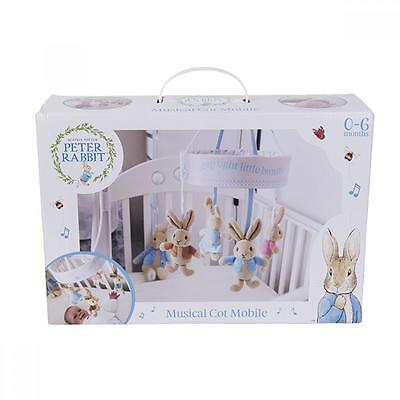 NEW The World of Beatrix Potter Peter Rabbit Musical Cot Mobile