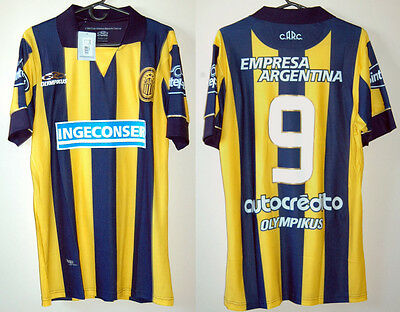 ROSARIO CENTRAL jersey PLAYER ISSUE Home #9 LUNA Olympikus Sz M