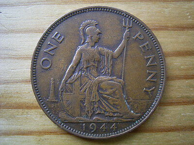 1944   george v1   penny  collectable