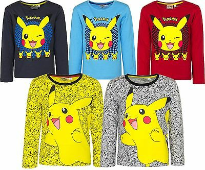 Official Fully Licensed Pokemon Long Sleeve Tshirt/Top 2-12 Years