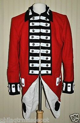 Revolutionary War Red British Army Frock Coat - Size 44