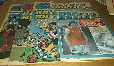 8 Roy Of The Rovers Comics, 1979-83