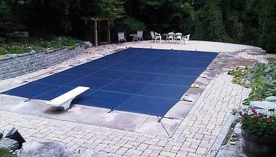 12'x24' BLUE MESH Inground Rectangle Swimming Pool Winter Safety Cover 15 Year