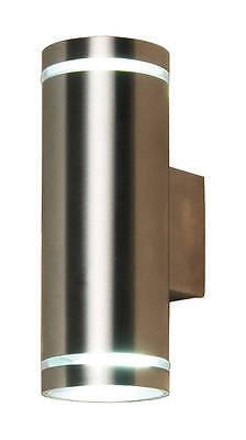 Up And Down Wall Light Gu10 Led Cfl Stainless Steel Outdoor Indoor Garden Patio