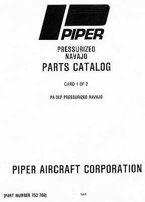 Piper Parts Catalog Pa-31-9 - Pressurized Navajo