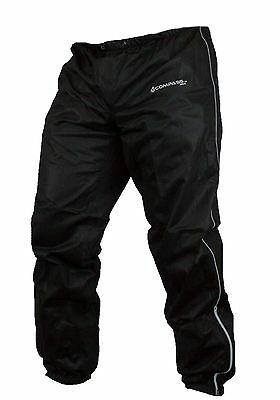 Compass 360 RoadTEK Waterproof Reflective Riding Pant, Black Rain Pants