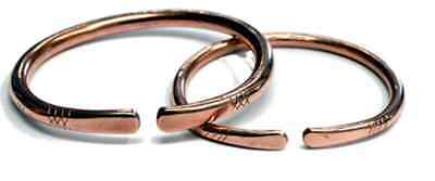 Copper Bracelets and Rings (Hand Made)