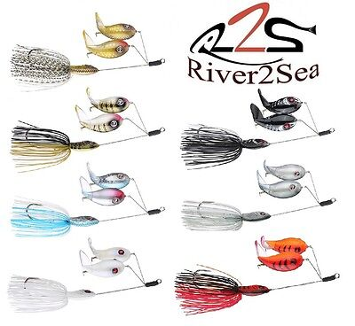 River2Sea Double Plopper Buzzbait Larry Dahlberg Topwater Bass Lure Select Color