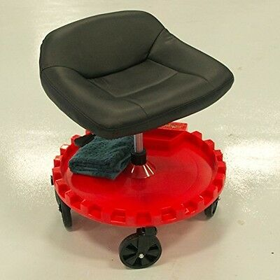 Creeper Seat Rolling Mechanic Stool Cushion Adjustable Auto Shop Tool Heavy Duty