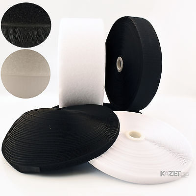 30mm hook and loop sew-on Black or White fastening tape