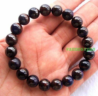 Natural Sugilite Round Beads Stretch Bracelet 9.5mm/10mm