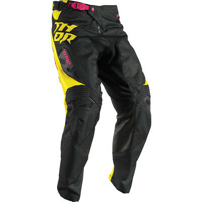 Thor 2017 Mx Gear NEW Fuse AIR Dazz Vented Magenta Yellow Black Motocross Pants