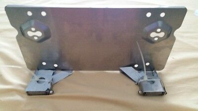 4X4 Hinged Registration Licenes Plate Bracket Saves time when using Winch