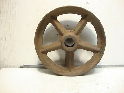 "Vintage 7-1/2"" Cast Iron Wheel 5 Spoke 2"" Face Farm Garden Art Steampunk"