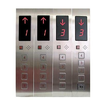 Elevator Hall Call Button Box 4-Floors DC24V with Power Lock