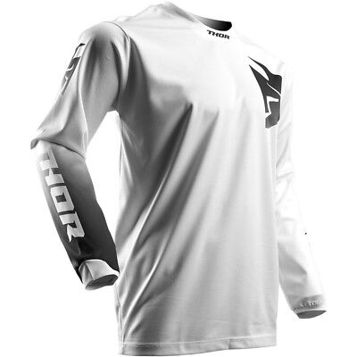 Thor 2017 Mx Gear NEW Pulse Whiteout Adult Dirt Bike White Motocross Jersey