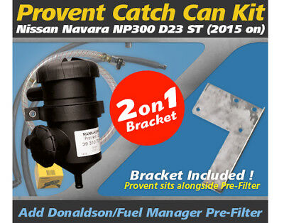 ProVent Oil Catch Can Kit for Nissan Navara 2015 D23 NP300 ST 2.3L Incl. Bracket