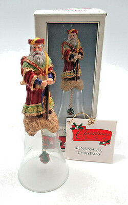 Novelino Christmas Through The Ages Renaissance Santa Bell #CTA402 Resin Glass