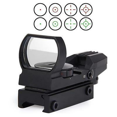 Black Tactical 20mm Rail Holographic Red Green Laser Dot Sight Scope Reflex  GL