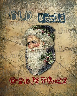 Primitive Santa Claus Belsnickel Old World Christmas Folk Art PRINT ONLY 8x10