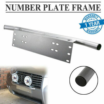 Number Plate Frame For Driving Light Bar Mount Bracket Silver Car Truck Jeep AU