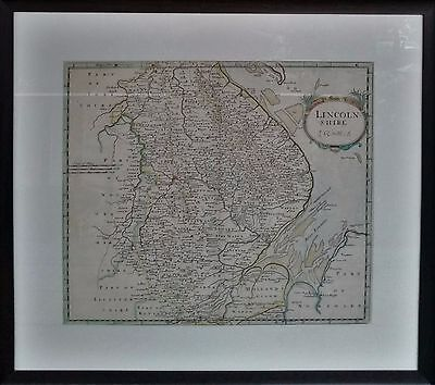 LINCOLNSHIRE ROBERT MORDEN Original Antique Hand Colored County Map c.1695