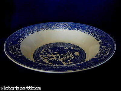Collectible Vintage 1930s-40's Blue Willow Vegetable Serving Bowl-Made in U.S.A.